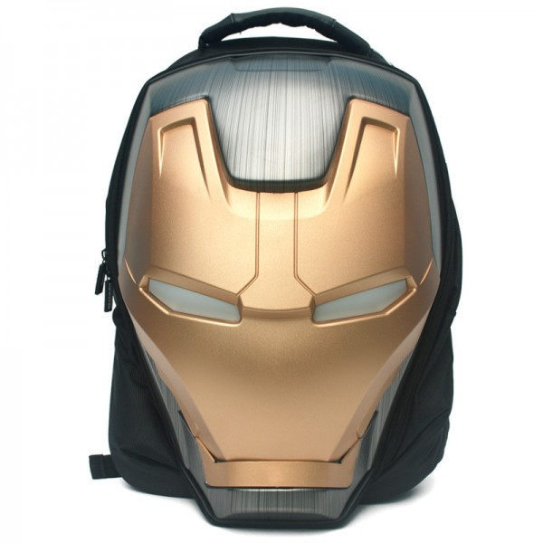 Iron Man 3D Glow Men's Backpack Fashion Large Backpack Canvas