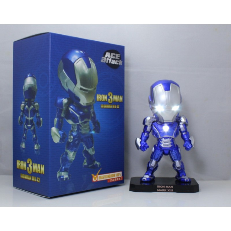 Marvel Iron Man, Captain America, luminescent model, hand-made toy, Avengers action figure, car accessories