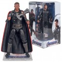 The new Marvel Avengers 4 super action figure comes in a box with a stand