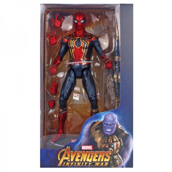 14 inches Iron Spider-Man with a glowing base genuine Marvel Action Toy