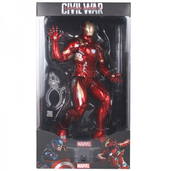14 inches Iron Man hair band light base stand for big bugler to do Marvel model