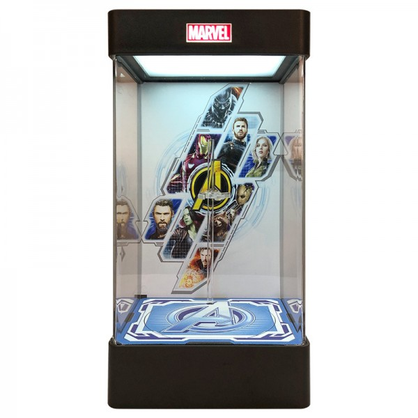 Marvel light display box acrylic transparent hand model dust storage box charging collection