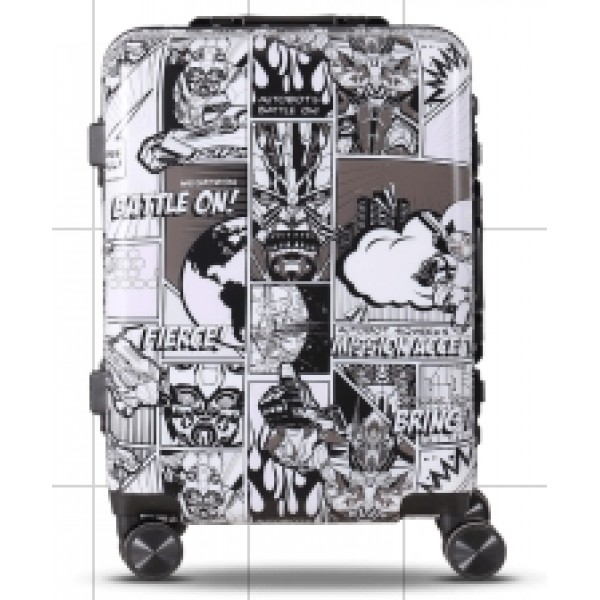 Transformers design  luggage 20 inches for boarding with TSA code lock