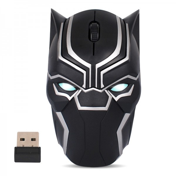 Avengers 3 Black Panther Creative Wireless Optoelectronic Mouse